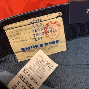 smoke rise Jeans - Smoke rise jeans ripped patched